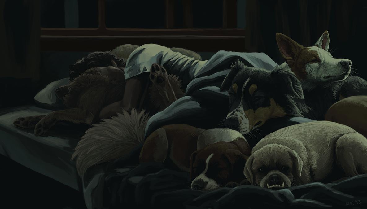 Let Sleeping Dogs Lie By Trublueart On Deviantart