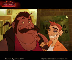 Humanized Timon and Pumbaa