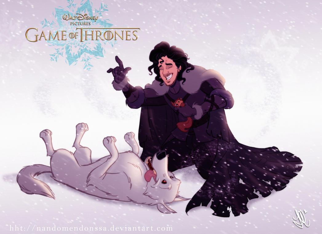 Disney GOT Jon Snow by nandomendonssa