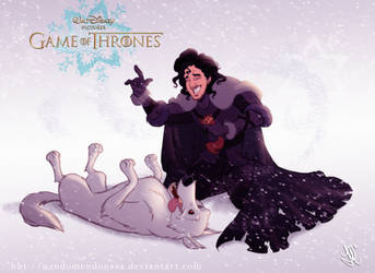 Disney GOT Jon Snow by nandomendonssa