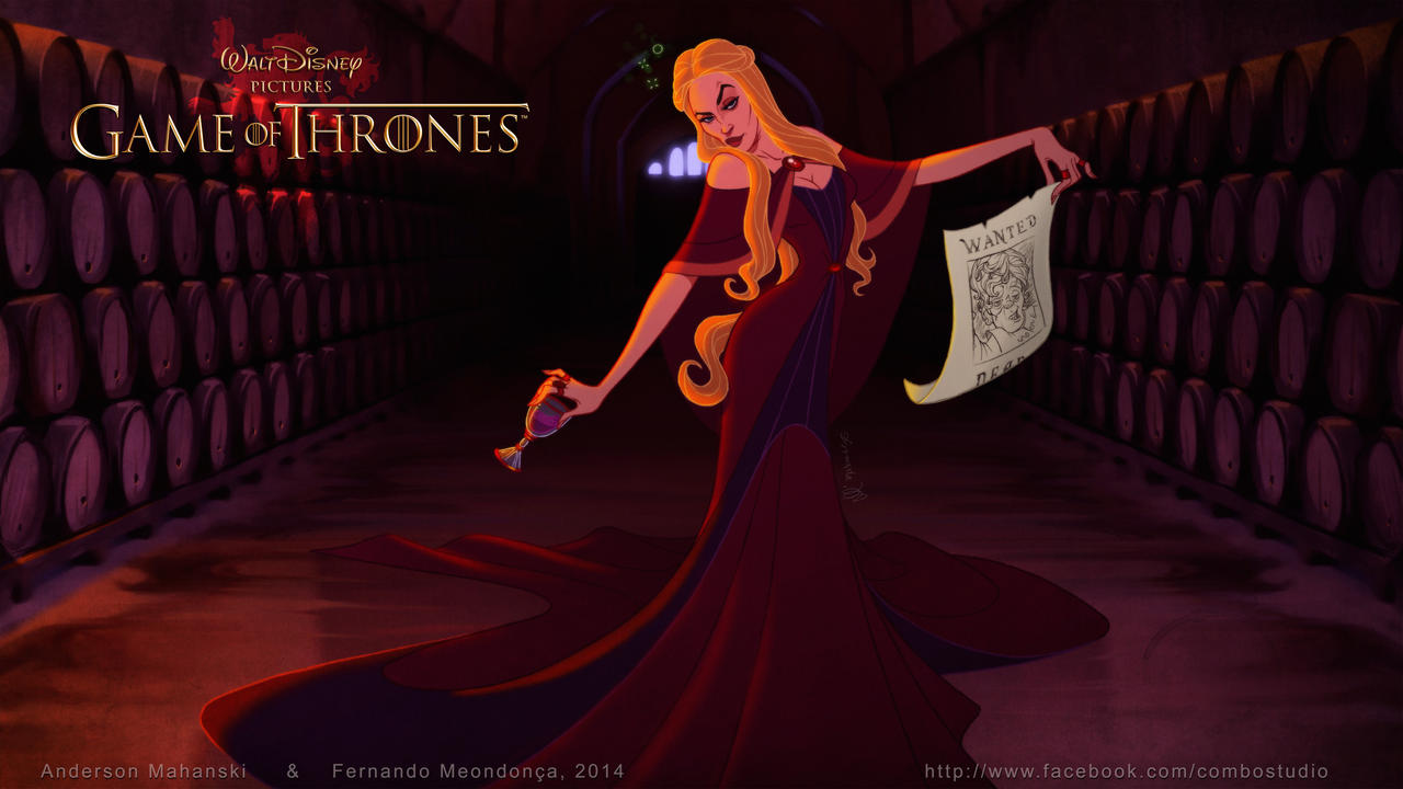 Disney GOT Cersei Lannister by nandomendonssa