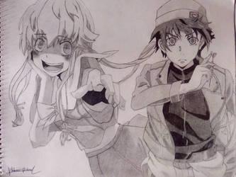 Yuno And Yukiteru by octabomd