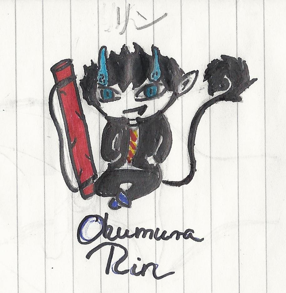 Okumura Rin by Lunajanka
