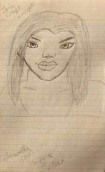 Lara Croft Face Concept