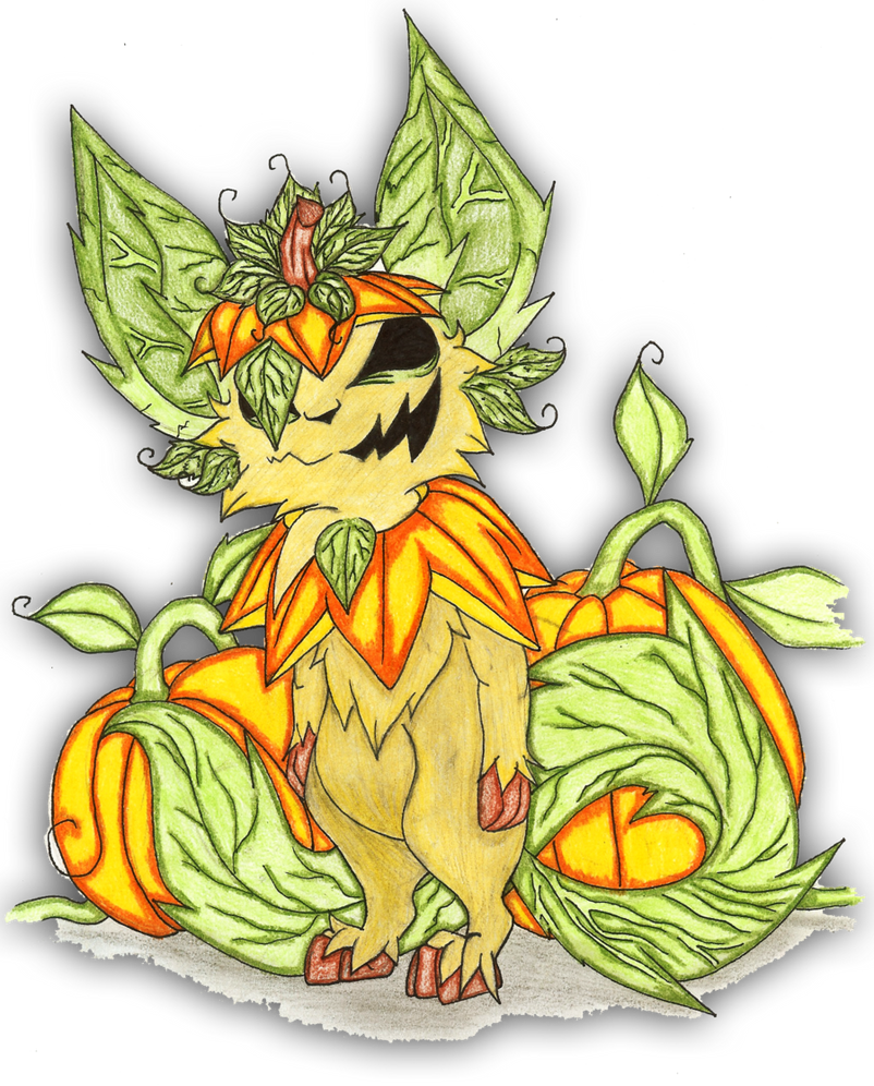 Leafeons Halloween By Holyhell111-d4uwhoe by unseenpsychotichell