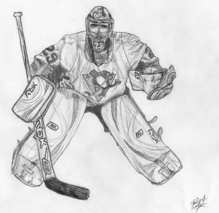 Fleury by xlita x on deviantart for Pittsburgh penguins coloring pages