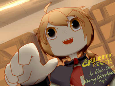 *Here is the book* says the mahoushoujo (Gift) by CrueltyEX