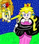 Peach vs Daisy by TOmega1