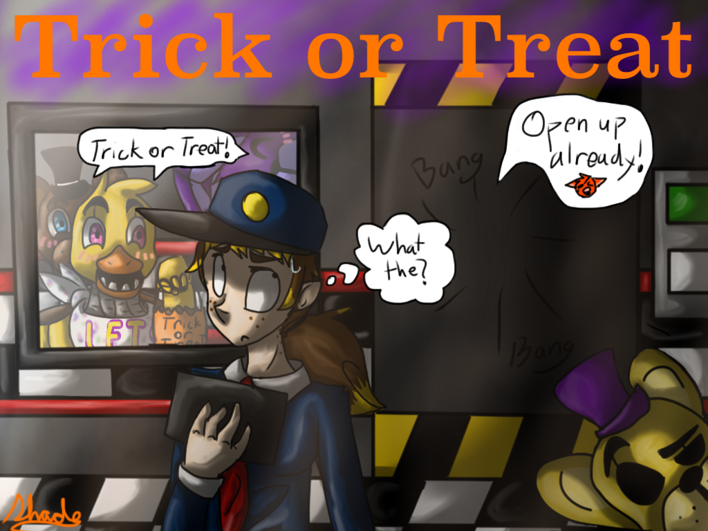 FNaF: HAPPY HALLOWEEN!!! by Shadefeather682 on DeviantArt