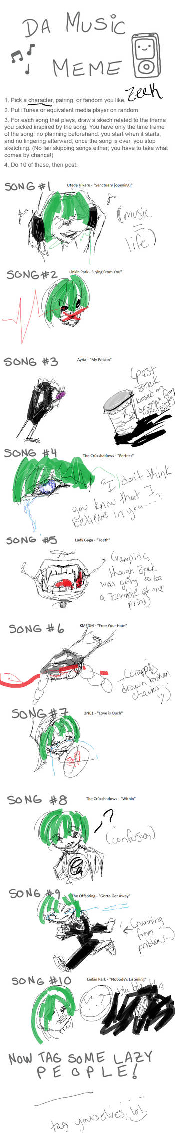 Music Meme: I was Tagged