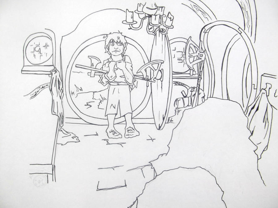 The hobbit 1 unexpected party by thedandydragon on deviantart for The hobbit coloring pages