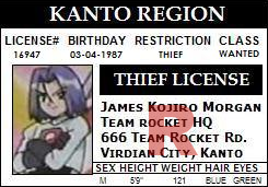 James Identification Card by TeamRocketGurl