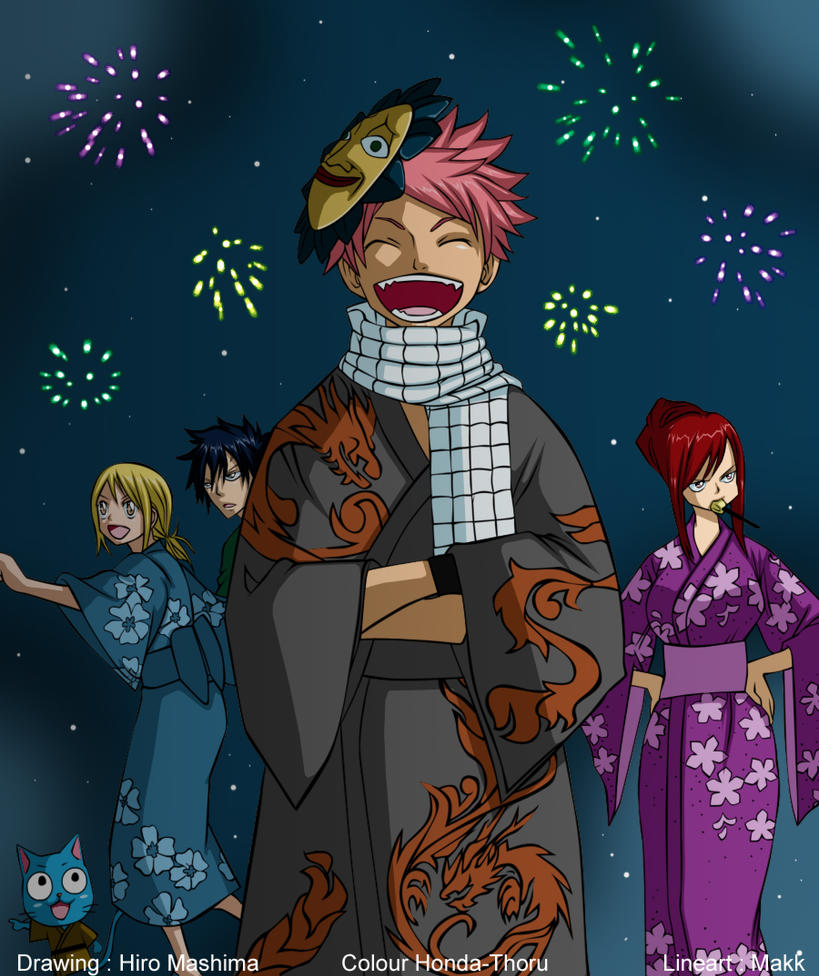 Fairy tail chapter cover 102 festival -colour-. by Honda-Thoru