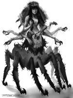 Evil Spider Witch Queen by Keltainen