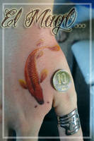 KOI FISH MINI TATTOO by magictattoo