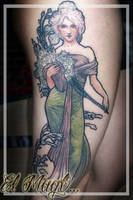 ALPONSE MUCHA TATTOO by magictattoo