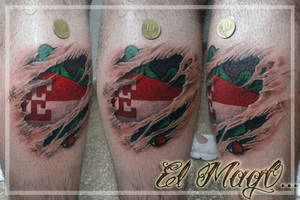 FOOTBALL SHIELD TATTOO by magictattoo
