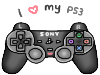 I love my PS3 stamp by SteffieSilva