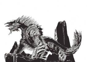Monster Hunter 3rd, Jinouga / Zinogre by Noscrow
