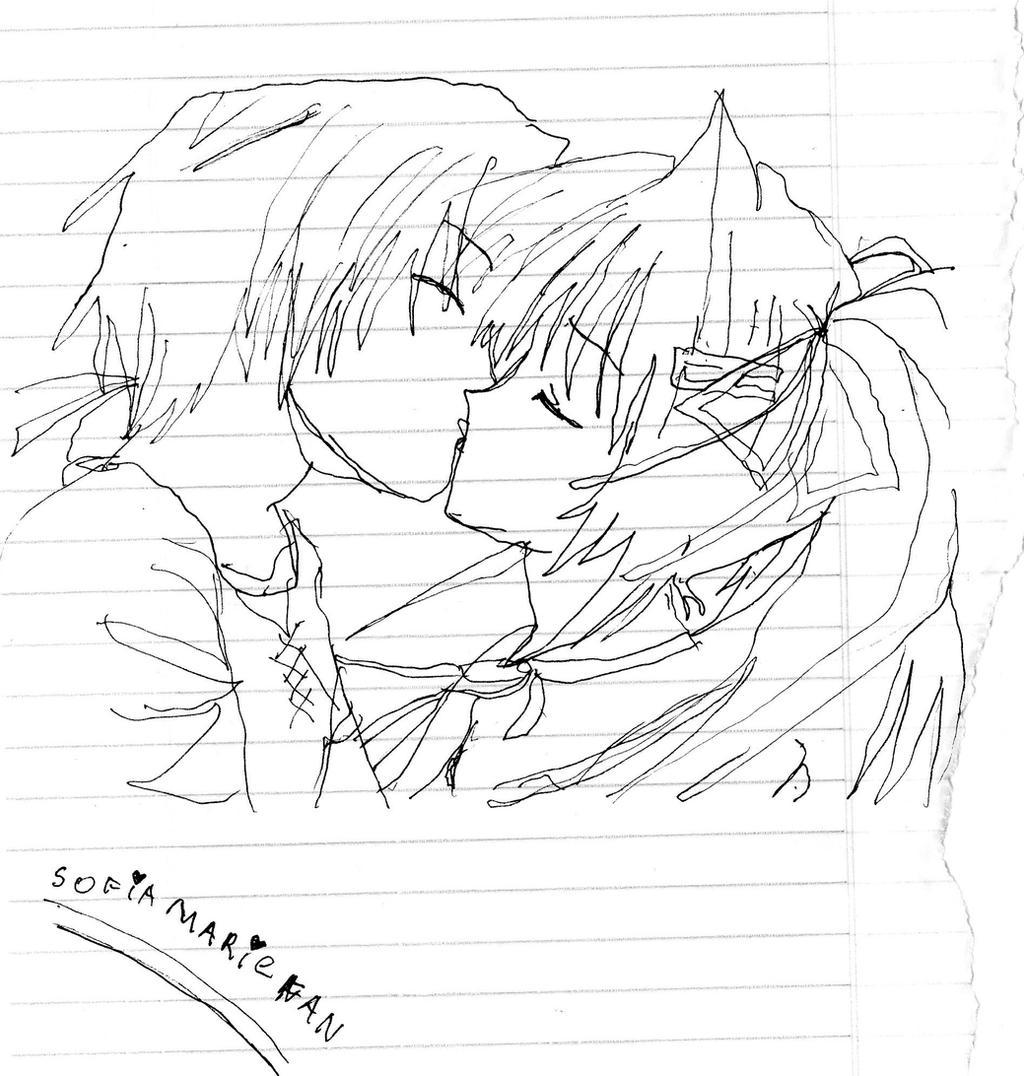 anime dandose un beso by sofiamariefan on DeviantArt