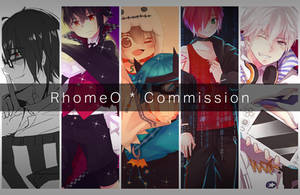 RhomeO's Commission OPEN! (+Promotions) by RhoSavior