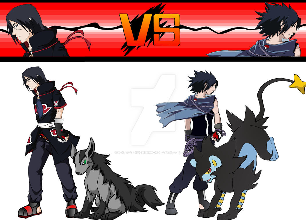 Itachi VS Sasuke by XxRavenUchihaxX on DeviantArt