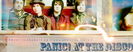 panic at the disco banner by thestealthydrink