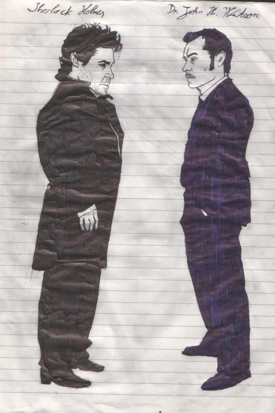 Sherlock Holmes n John Watson by DowneyFan