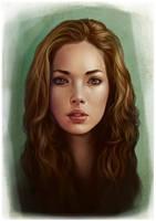 Portrait Study I by giselleukardi