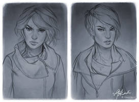 Commission Sketches: Aven by giselleukardi