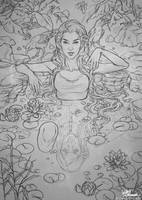 Sketch: Fountain Of Youth by giselleukardi