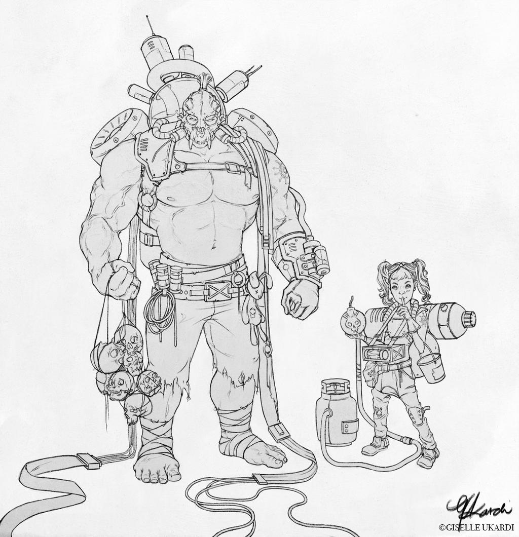 Character Sketch I by giselleukardi on DeviantArt