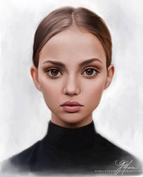 Portrait Study I - Inka Williams by giselleukardi