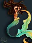 Mermaid: Blue and Orange