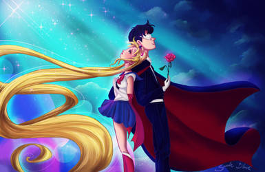 Sailor Moon and Tuxedo Mask by Blossom525