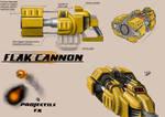 Unreal Tournament - Flak Cannon Concept Art