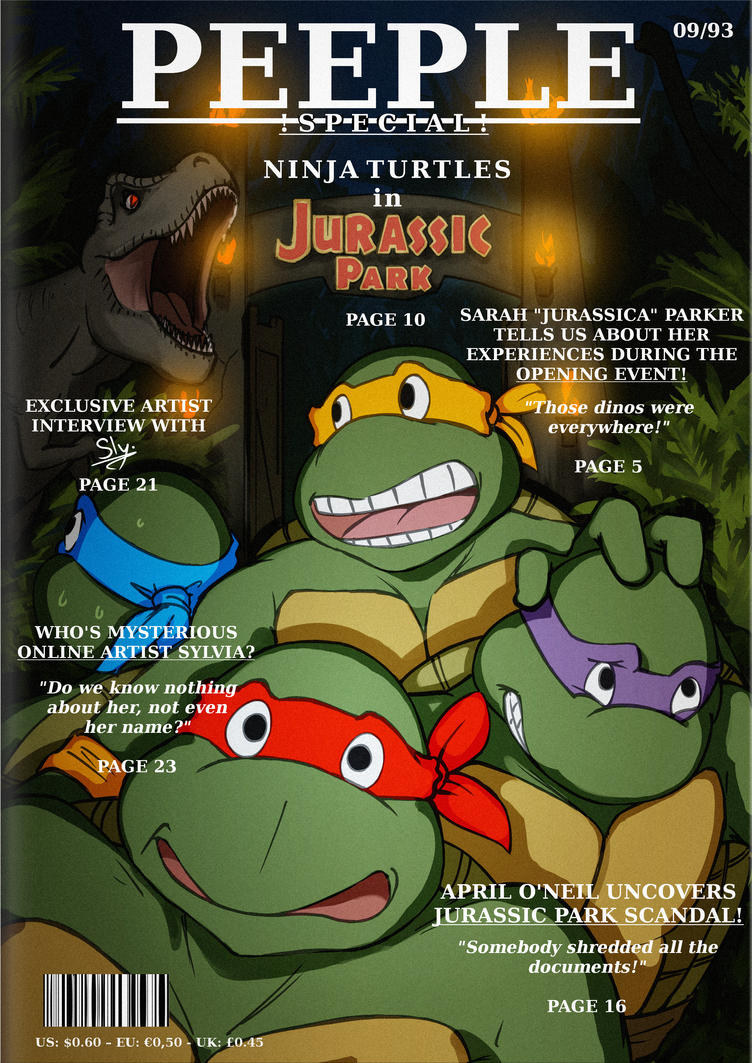 TMNT in Jurassic Park - only in PEEPLE Magazine!! by Sly-Mk3