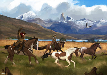 Outlaw trail: Mustang Hunt by Brissinge