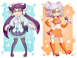 Callie and Marie by Skellytune
