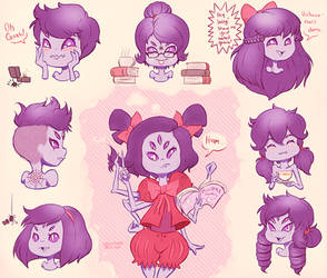 Muffet Hairstyles by Skellytune