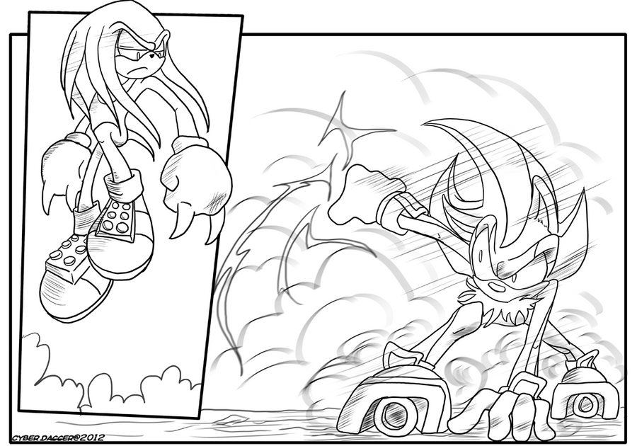 Hyper Knuckles vs Shadow by DunaLonghorn