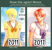 DRAW THIS AGAIN CHALLENGE  2011 VS 2017