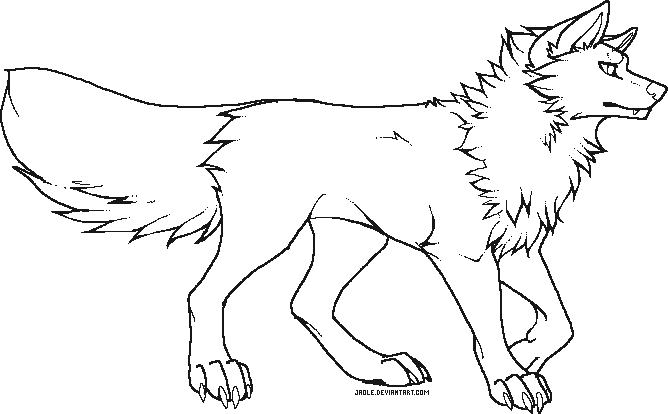 Cartoon wolf coloring pages wolf coloring pages free coloring pages - Pixel Wolf Makeable Free Use By Jaole On Deviantart