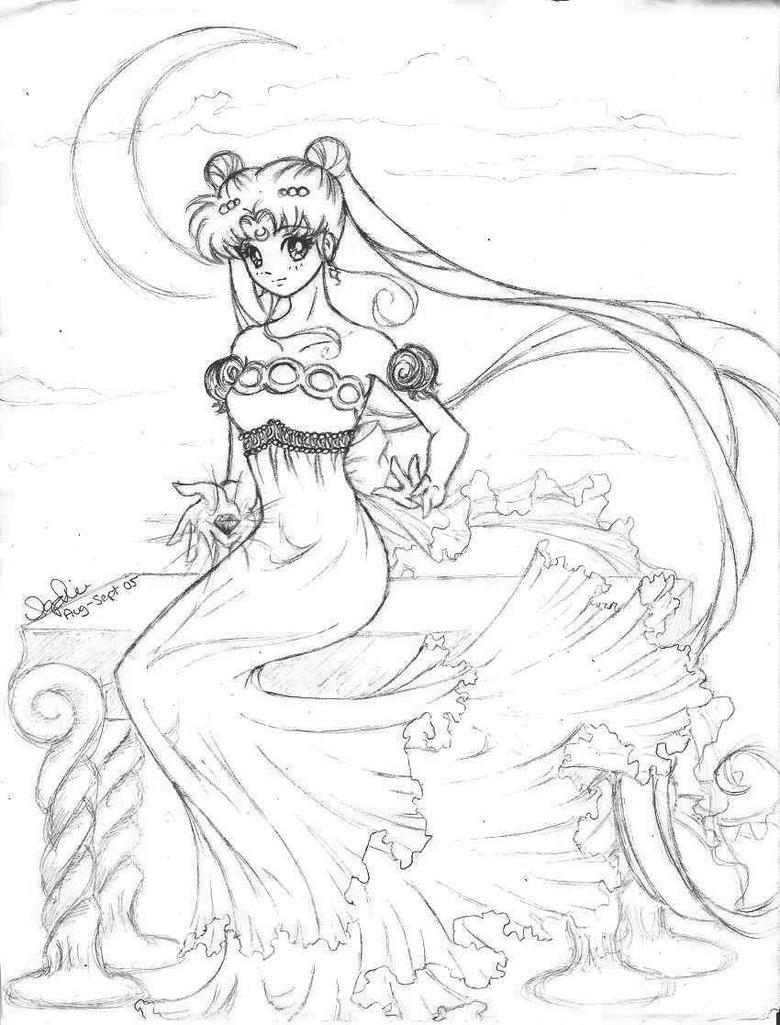 queen serenity coloring pages | Princess Serenity DARKER VER. by Lomelindi88 on DeviantArt