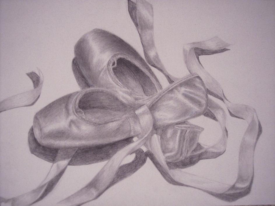 Pointe Shoes Drawing at PaintingValleycom  Explore