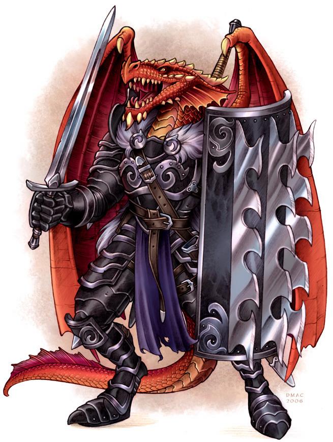 Red Half-Dragon by D-MAC