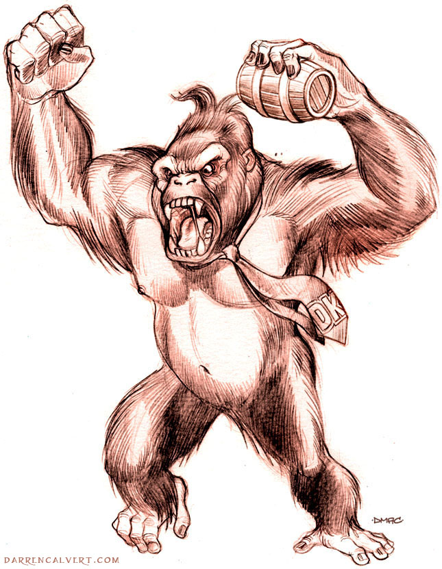 gallery donkey kong sketch
