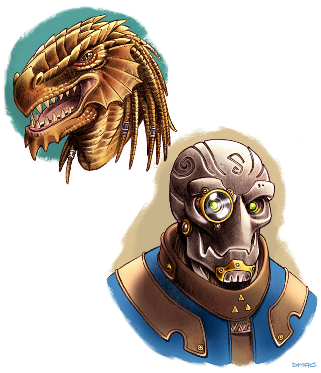 Dandd Shardmind D and D Portraits in Color by