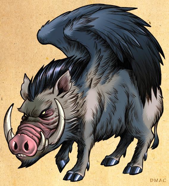 Winged Boar