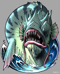 Charybdis the Sea Monster by D-MAC